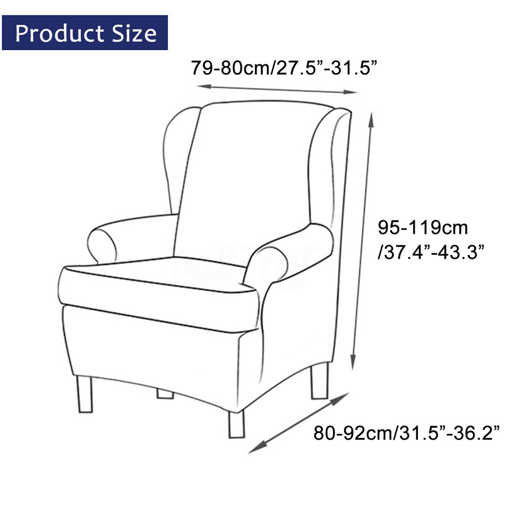 Durable Sofa Stretchable Chair Cover Home Check Pattern Arm