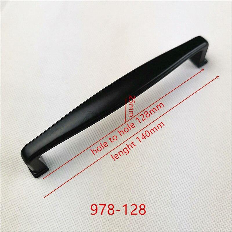 Ручки для шкафа из цинкового сплава черного цвета в американском стиле, дверные ручки для кухонного шкафа, ручки для выдвижных ящиков, модные мебельные ручки, фурнитура - Цвет: 978-128