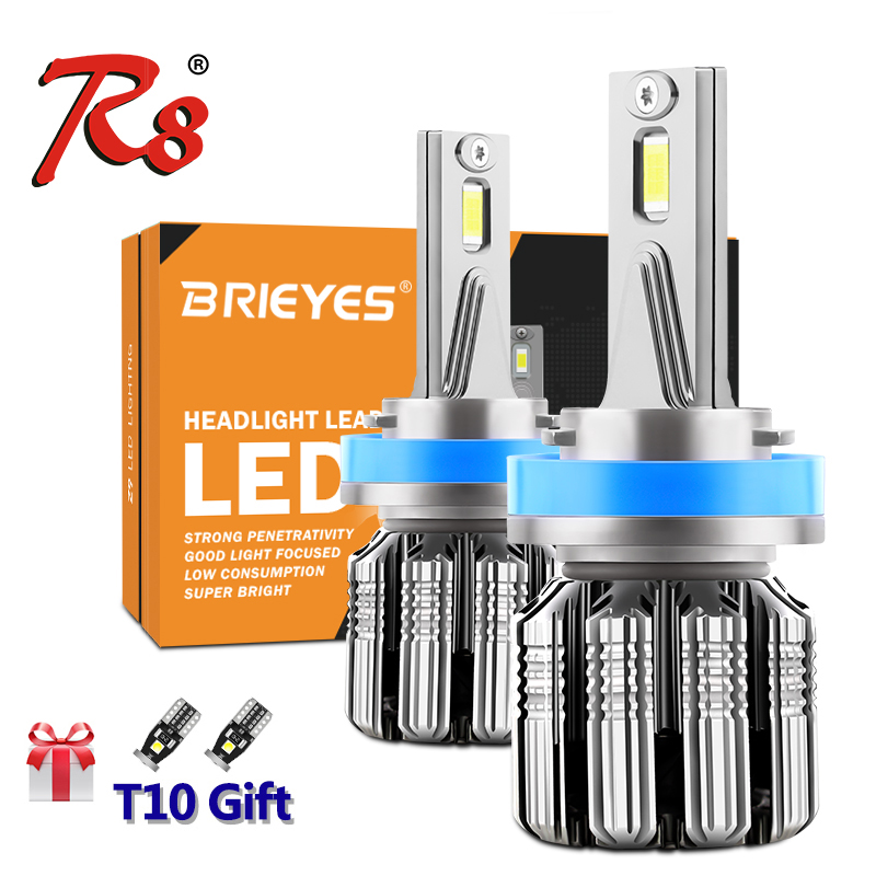R8 Premium Z9 H7 H11 H8 HB3 HB4 <font><b>9012</b></font> H4 <font><b>LED</b></font> Car Lights 70W Headlight Bulbs Canbus EMC Auto Solution No Interference image