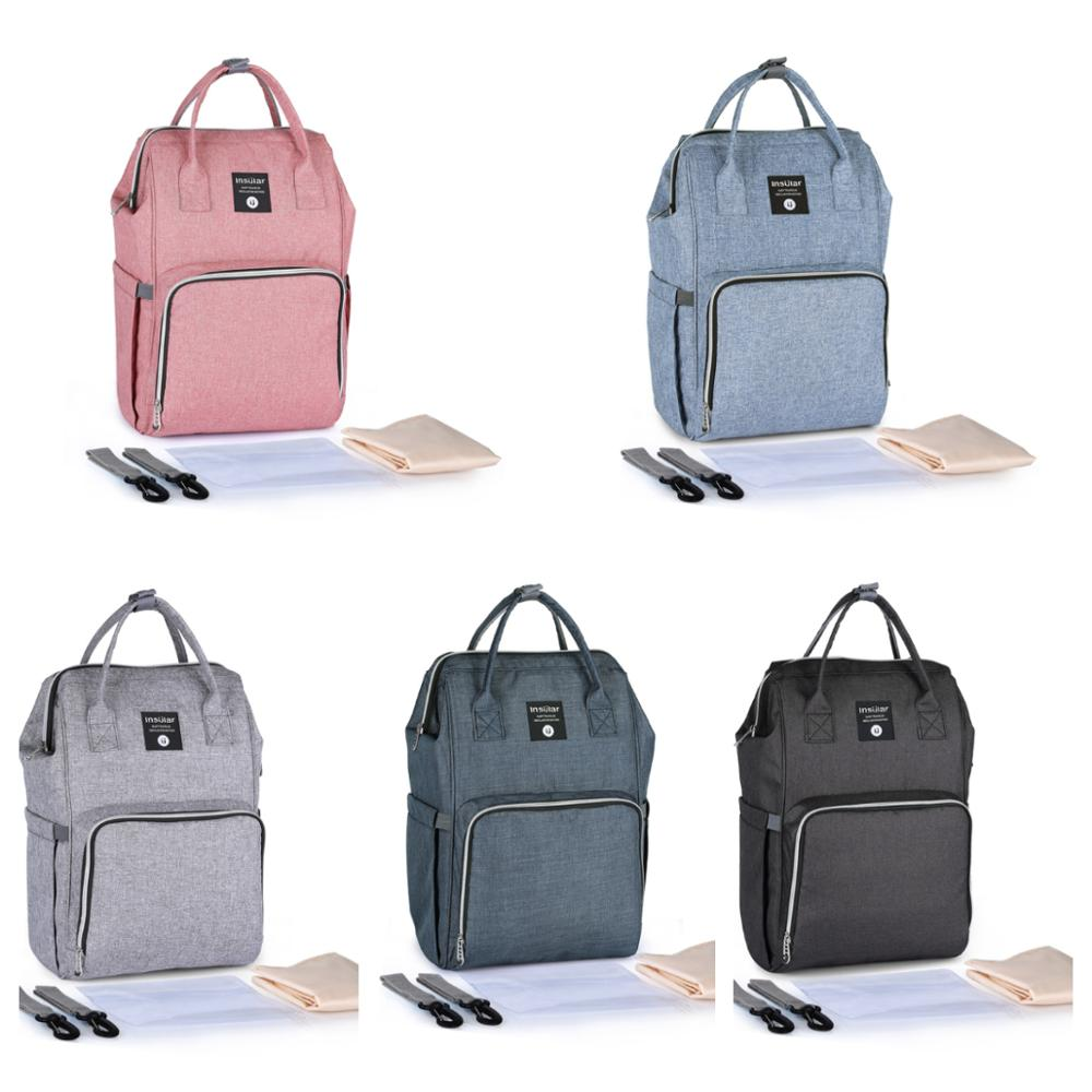 5 Colors Multi-function Diaper Bag  Waterproof Mommy Bag Outdoor Travel Backpack Maternity Bags Travel Durable Nappy Handbag