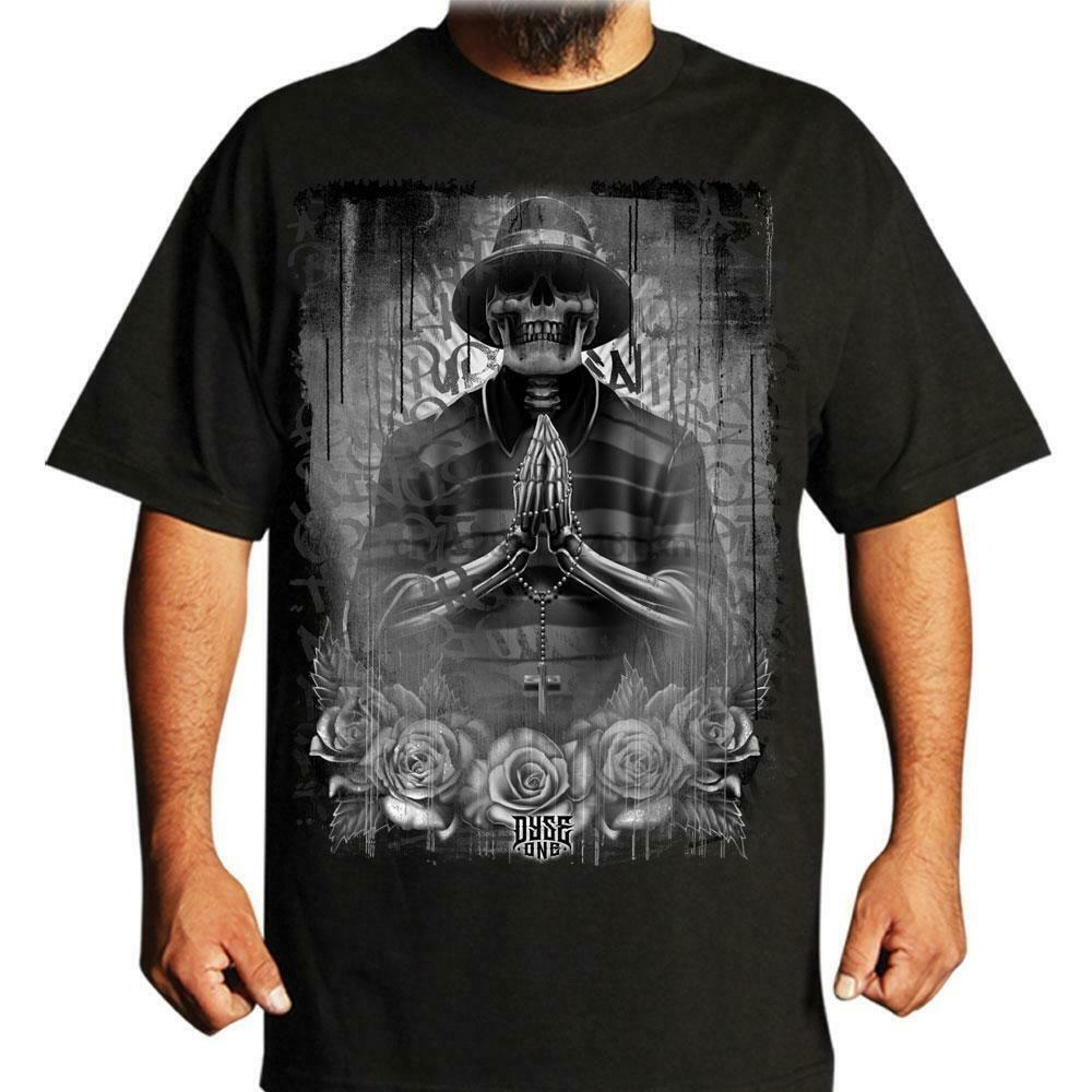 Gangster Prayer Mens Shirt Dyse One Chicano Tattoo Art T Shirts Aliexpress