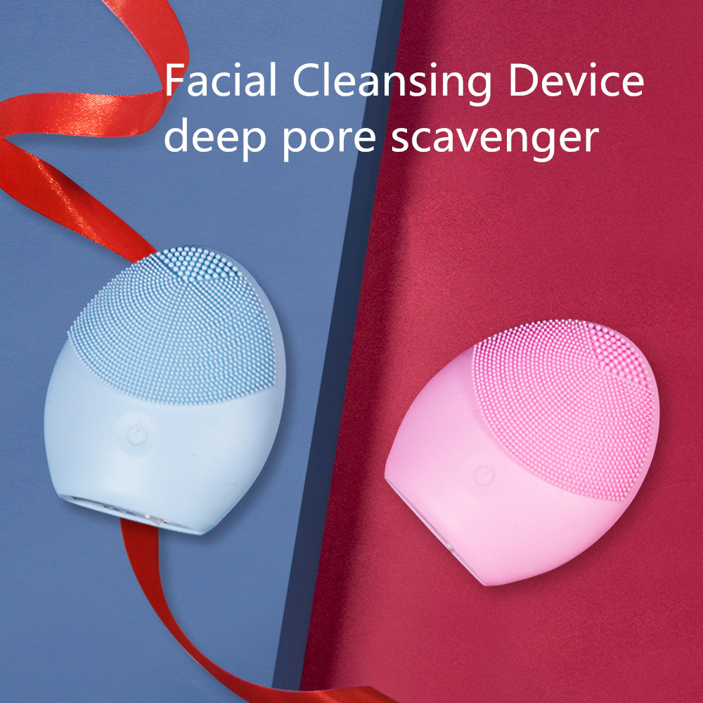 US $0.89 40% OFF|Professional Powered Face Cleansing Brush Waterproof Deep Pore Facial Cleansing Brush Silicone Face Cleanser Massage Skin Care|Cleansers| |  - AliExpress