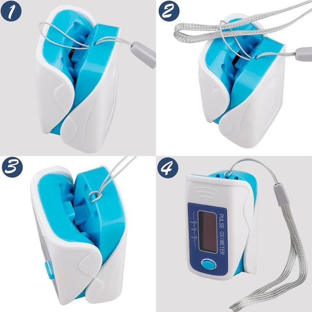 Portable finger pulse oximeter blo