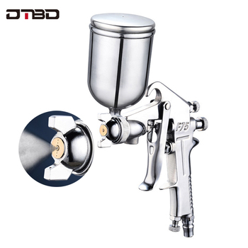 цена на Professional Spray Gun Pneumatic 500ML Airbrush Sprayer Alloy Painting Atomizer Tool With Hopper For Painting Cars