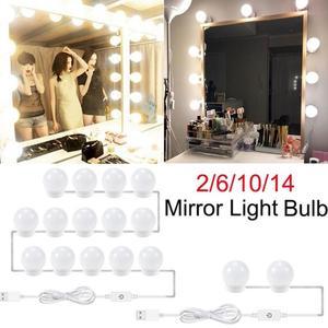 Image 1 - 2/6/10/14 шт., светодиодные лампы для зеркала для макияжа