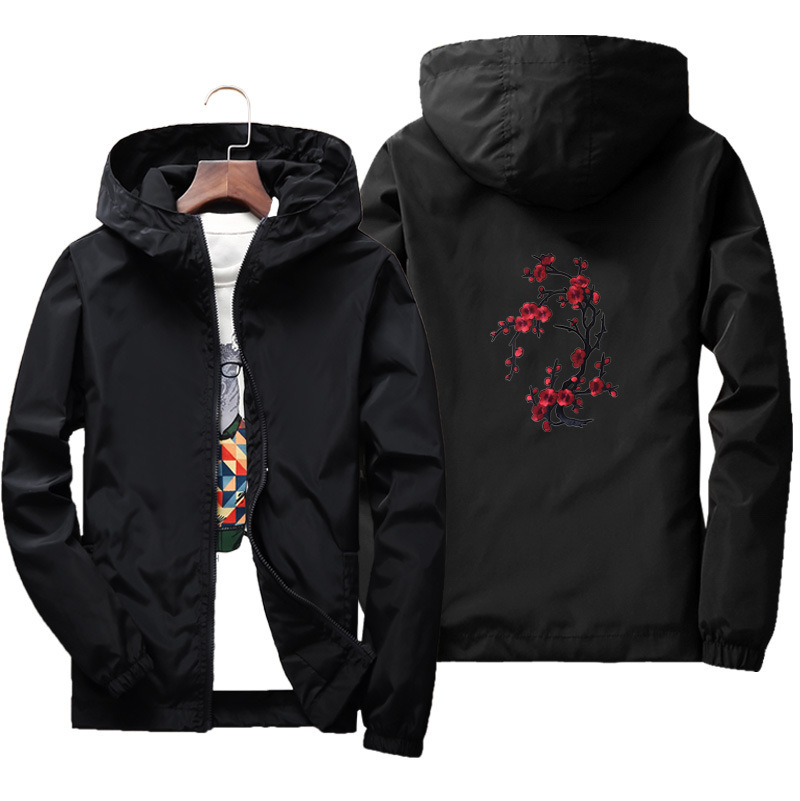 Embroidered Figure MEN'S Jacket Large Size Thin Type For Spring And Autumn With Lining Couples Parent And Child Outdoor Trench C