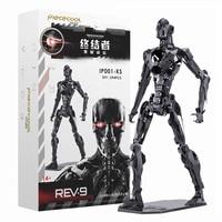 Terminator 6 Dark Destiny T800 Doll T1000 Metallic Framework 3D Stereoscopic Action Figure Assembled Model X4110