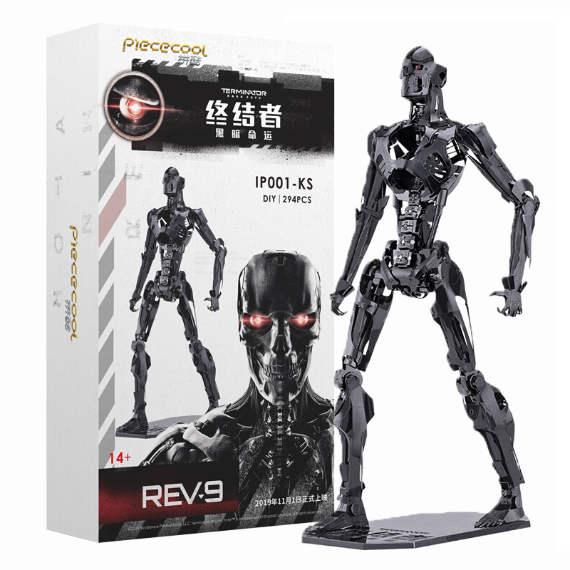 Terminator 6 Dark Destiny T800 Doll T1000 Metallic Framework 3D Stereoscopic Action Figure Assembled Model X4110