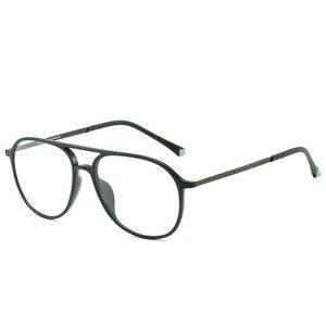Image 4 - טונגסטן פחמן פלסטיק פלדה שני גשר קוצר ראיה מרשם אופטי משקפיים מסגרת גברים נשים עם הדגמה עדשת Oculos