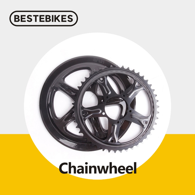 Bafang 8fun 44T/46T/48T/52T chainwheel for bbs01 bbs01b bbs02 bbs02b 250w 350w 500w <font><b>750w</b></font> mid drive <font><b>motors</b></font> ebikes conversion image