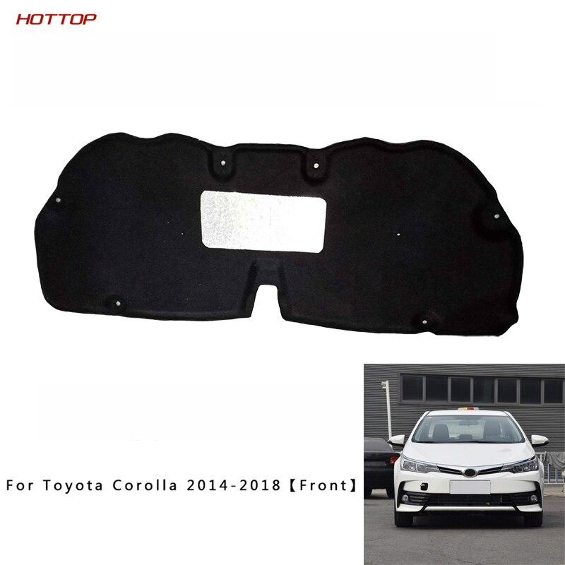 Feuille d'aluminium + PET noir avant moteur Anti-bruit isolation phonique coton chaleur cellules fermées mousse pour Toyota Corolla 2014-2018