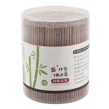 800Pcs Disposable Carbonized Bamboo Wooden Toothpicks Single-Head Pointed Cocktail Picks with Dispenser Fruit Skewers Teeth