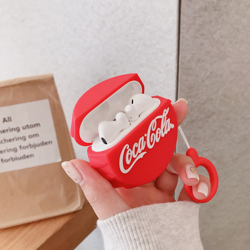 3D Cola Earphone Case For Huawei Freebuds 3 Soft Silicon Shockproof Headphone Cover For Free Buds 3 Cases With Finger Ring