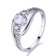 lesf vintage style 925 sterling silver 1 25 ct oval cut trendy wedding ring for women zircon engagement ring trendy jewelry Vintage Female White Opal Stone Ring Cute Crystal Silver Wedding Rings For Women Trendy Bridal Oval Engagement Ring