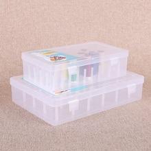 1 Pcs Plastic Bobbin Box Sewing Bobbins Threads Storage Sorting Case Organizer Jewelry Box Compartment