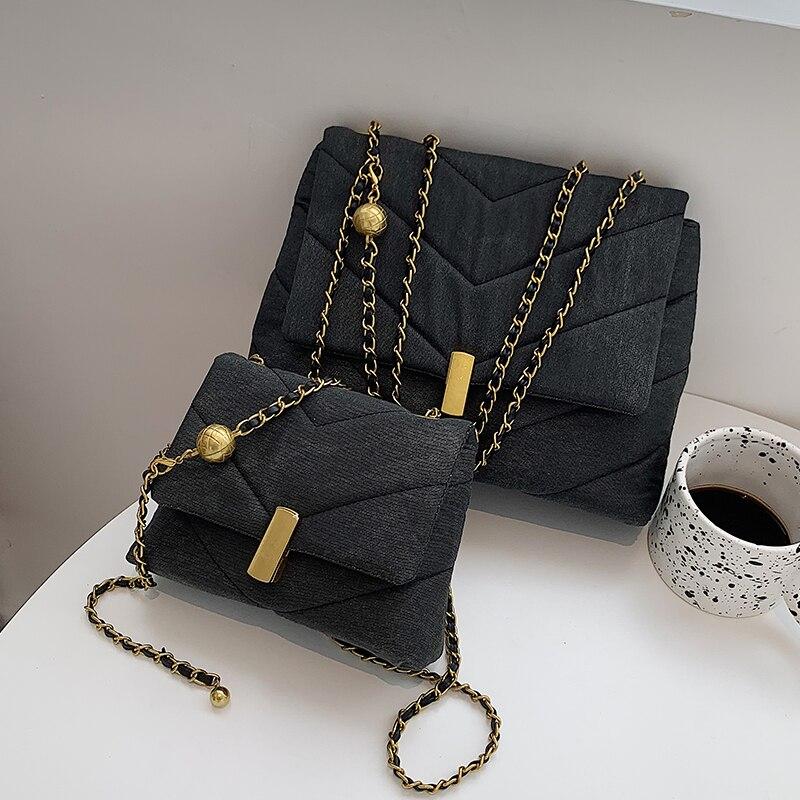 с доставкой Designer PU Leather Crossbody Bag For Women 2020 New Trends Chain Bags And Purses Brand Crossbody Bag