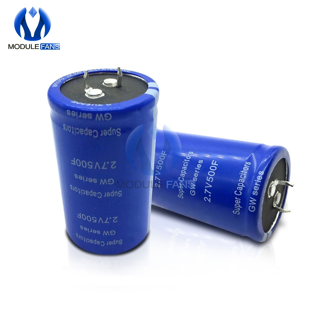 2Pcs New Super Capacitor 2.7V 100F Ultra Capacitor Farad