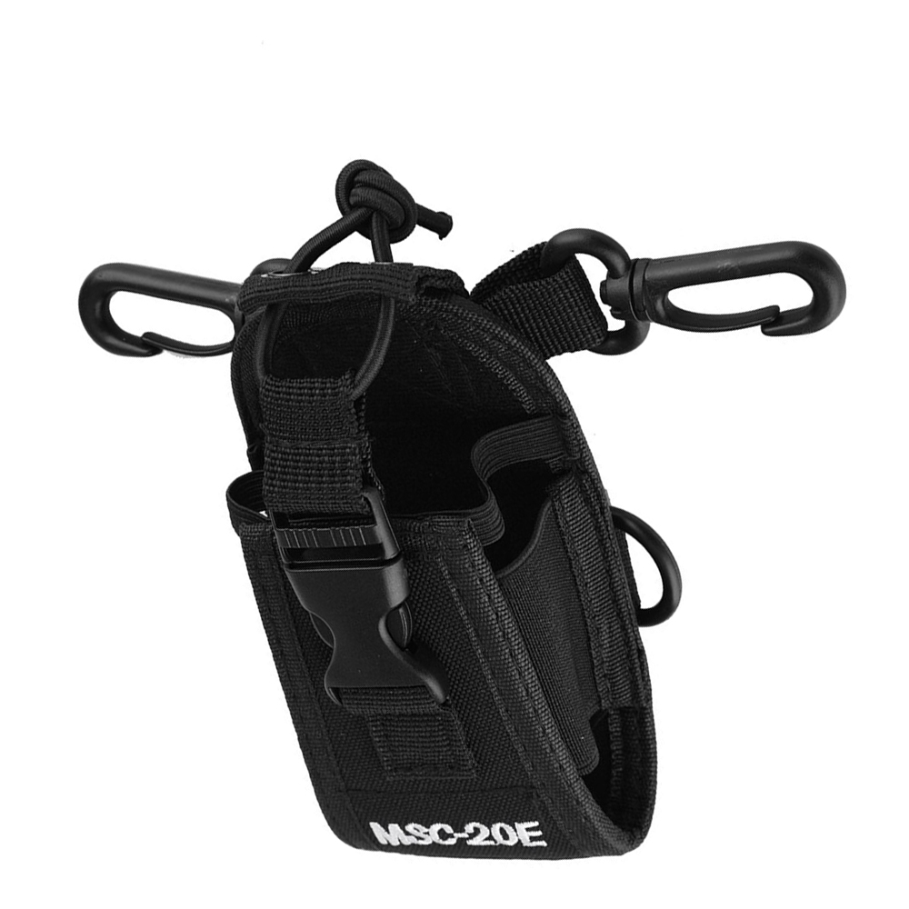 MSC-20E Walkie Talkie Radio Big Nylon Pouch Bag Carry Case For BaoFeng UV-5R UV-82 UV-XR UV-9R Plus YAESU TYT WOUXUN Mototrola