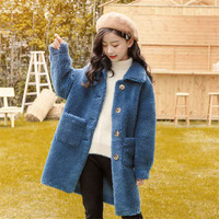 Giacca da ragazza 2020 autunno inverno giacche per ragazze cappotti di lana moda abbigliamento per bambini capispalla per ragazze cappotto 10 12 13 14 16 anni
