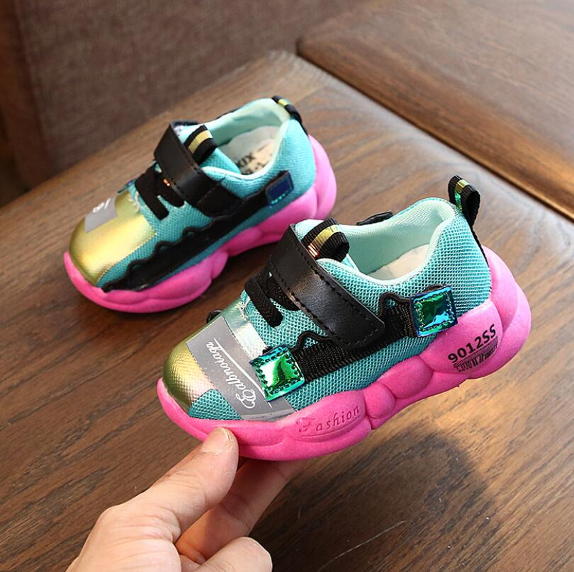 2020 New Arrival Single Network Sport Shoes Light Female Male Sneakers Child Running Shoes Kids Breathable Canvas Shoes