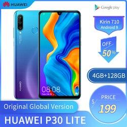 Оригинальный глобальная версия Huawei P30 Lite, 4 Гб 128 ГБ, мобильный телефон, 6,15 дюйма, смартфон 32 МП, 4 камеры с Google Pay, Android 9,0