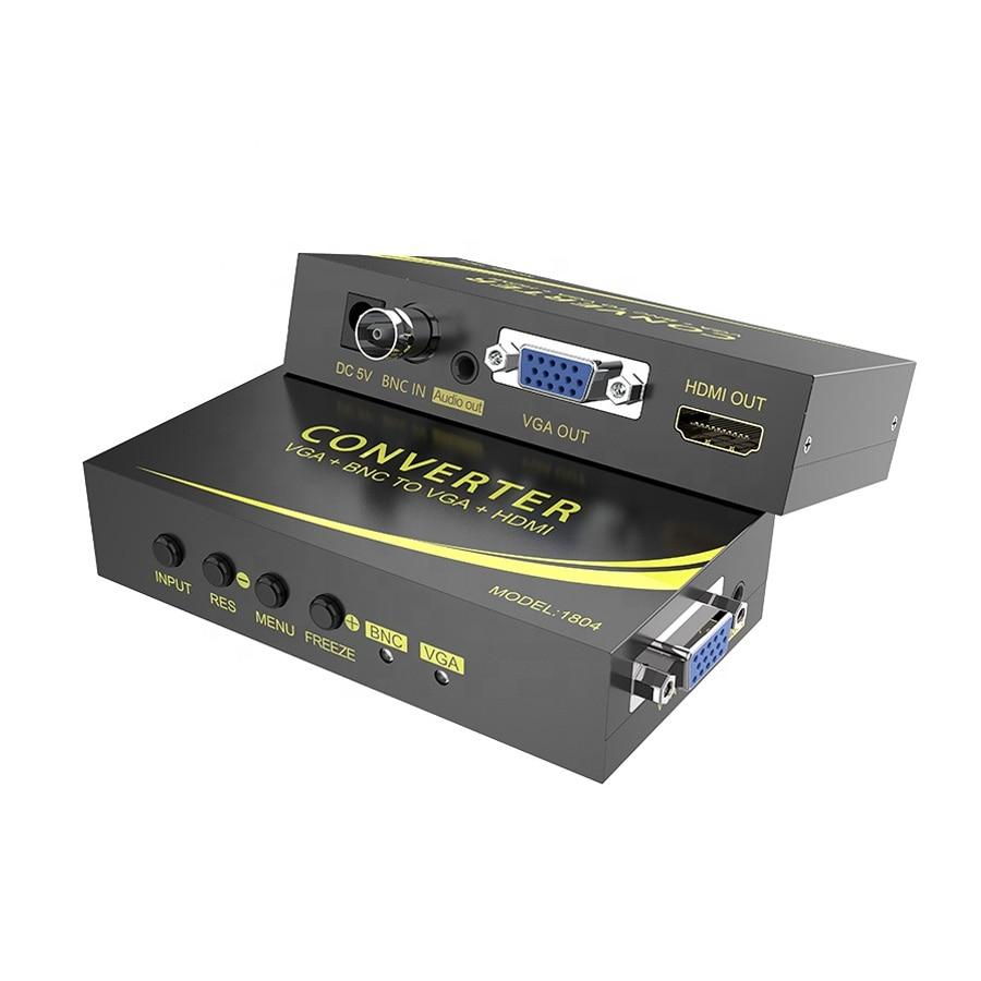 1080P BNC/VGA to VGA/HDMI 2-in-1 converter HD lossless conversion
