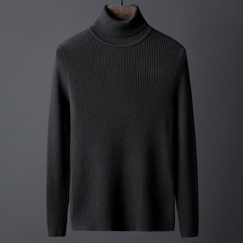 Winter New Mens Turtleneck Brand Fashion Solid Color Long Sleeve Thick Pullover Knitted Sweaters Male Plus Size 4XL Pull Homme