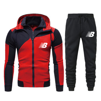 Brand Clothing Men's Autumn Winter Hot Sale Men's Sets Hoodies + pants Two Pieces Sets Casual Tracksuit Male Sportswear
