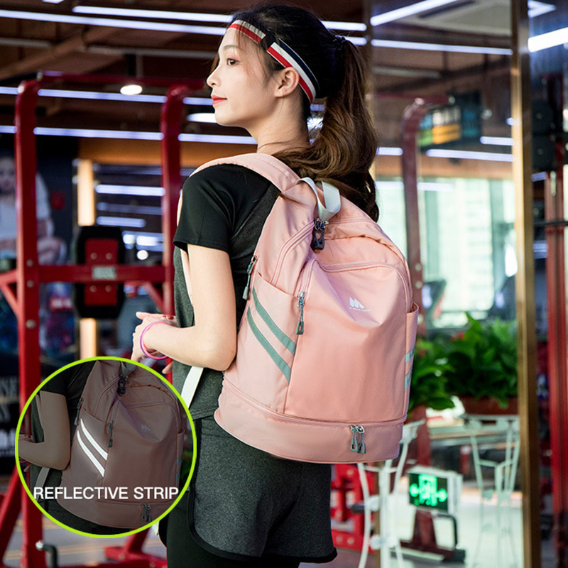 Image 4 - Women Gym Backpack Traveling Bag Fitness Bags for Shoes Training Dry And Wet Sack Gymtas Sac De Sport Mochila Swimming XA874WAGym Bags   -