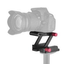 حامل ثلاثي القوائم لكاميرا كانون نيكون سوني DSLR, حامل ثلاثي القوائم مرن من نوع Z برأس مائل مصنوع من سبائك الألومنيوم لكاميرا كانون نيكون سوني DSLR