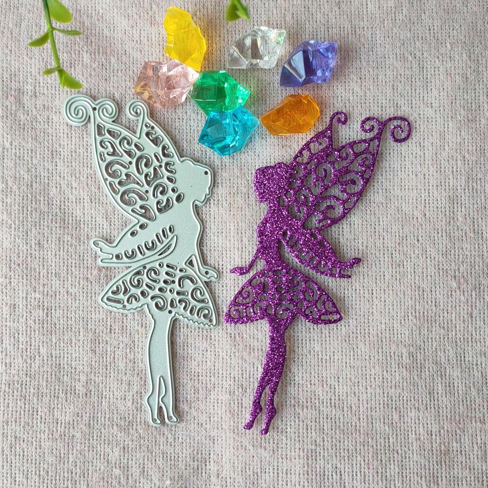 New Angel Fairy, Flower Fairy, Girl, cutting Die, scrapbook Mould, embossing Card, DIY Handicrafts