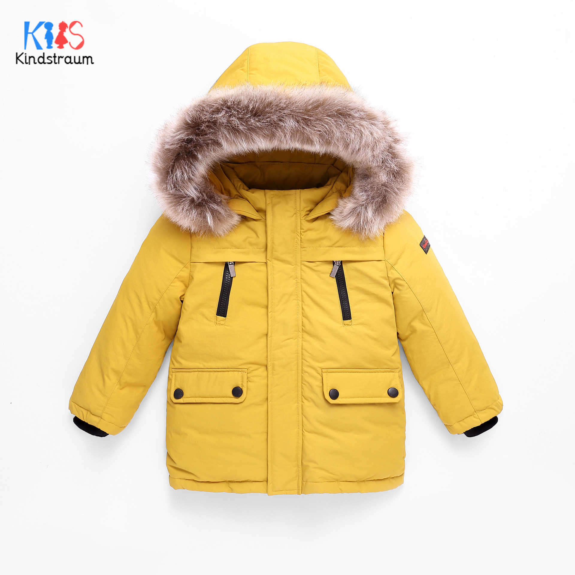 2020 Children's Winter Jackets Boys Duck Down Jackets For Boys Fur Collar Warm Kids Girls Down Outerwear Coat 4-12T DC202