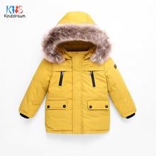 цены 2019 Children's Winter Jackets Boys Duck Down Jackets For Boys Fur Collar Warm Kids Girls Down Outerwear Coat 4-12T DC202