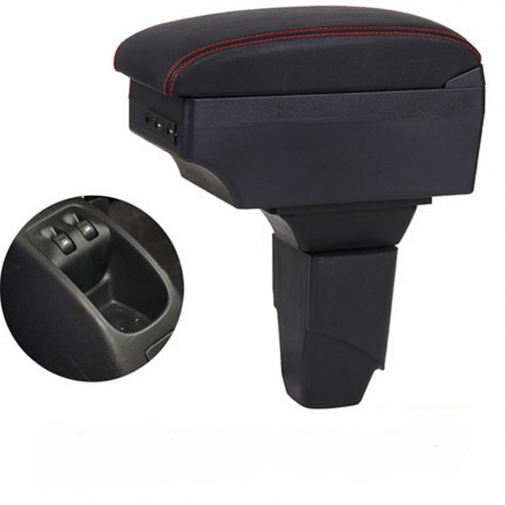 for <font><b>PEUGEOT</b></font> <font><b>206</b></font> 207 <font><b>armrest</b></font> box universal car center console modification accessories double raised with USB image