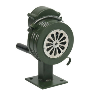 Crank Hand Operated Air Siren Horn Fire Emergency Security Alarm Aluminum Alloy VDX99