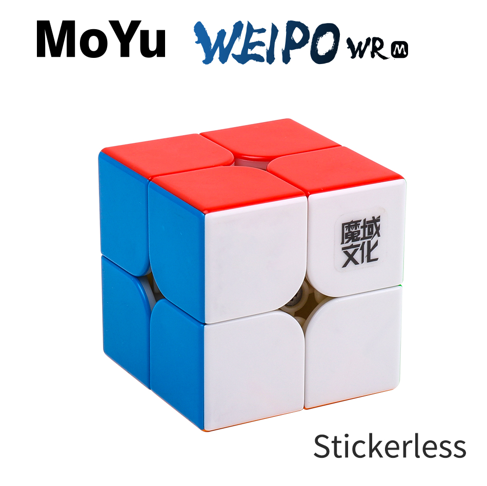 MoYu WeiPo WRM 2x2x2 Speed Magnetic Magic Cube WeiPo WR 2x2 Magico Cubo Professional Children Toys