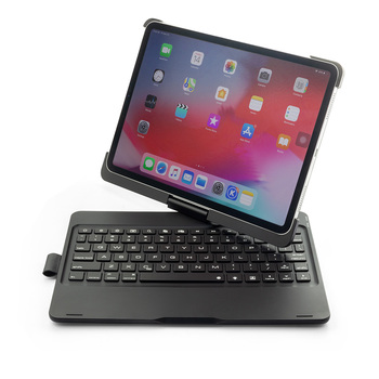 Portable 360 Degree Rotation Smart Bluetooth Keyboard Cases for Apple iPad Pro 11 inch Tablet Case with Keyboard LED Backlight