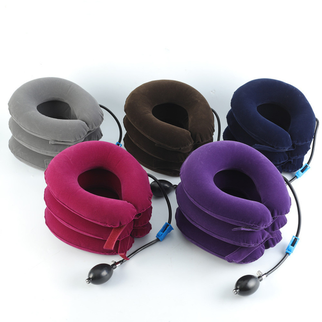 Three-Layer Inflatable Neck Pillow
