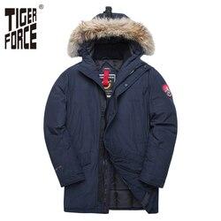 TIGER KRAFT Alaska Winter Jacke für Männer Parka Wasserdichte Verdicken Mantel Jacken mit Echtpelz Kapuze Männliche Snowjacket Outwear