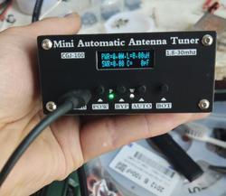 Автоматический антенный тюнер N7DDC 7x7 + 0,91 дюйма, в сборе, с разъемом типа C, 1,8-50 МГц, с разъемом OLED + чехол, с разъемом типа C