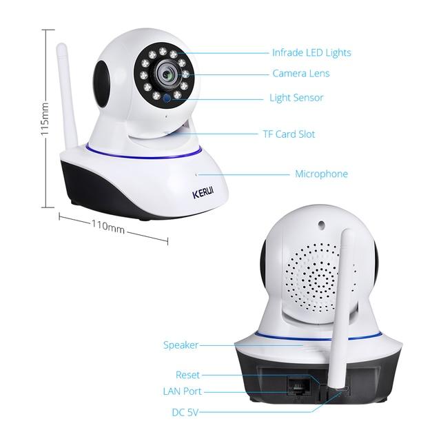 KERUI 720P 1080P HD Wifi Wireless Home Security IP Camera Security Network CCTV Surveillance Camera IR Night Vision Baby Monitor 5