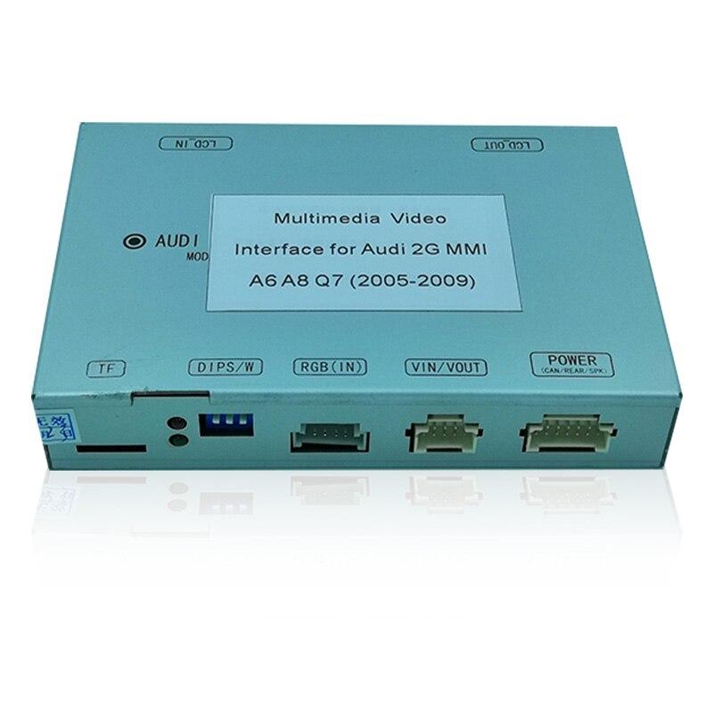 Interface vidéo multimédia pour Audi A6 A8 Q7 MMI 2G avec directives de stationnement