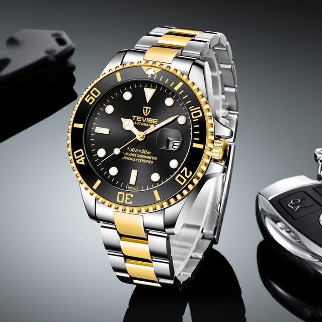 TEVISE Elite Ghost Men Mechanical/Quartz Luminous Business Wristwatches 2