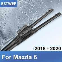 BSTWEP Wiper Blades for Mazda 6 Fit Push button Model Year 2018 2019 2020