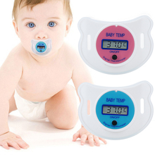 Baby Nipple Thermometer Silicone Pacifier LCD Digital Children'S Thermometer Health Safety Care Thermometer For Children foreign trade hot silicone tooth gum baby nipple chain nipple clip pacifier accessories