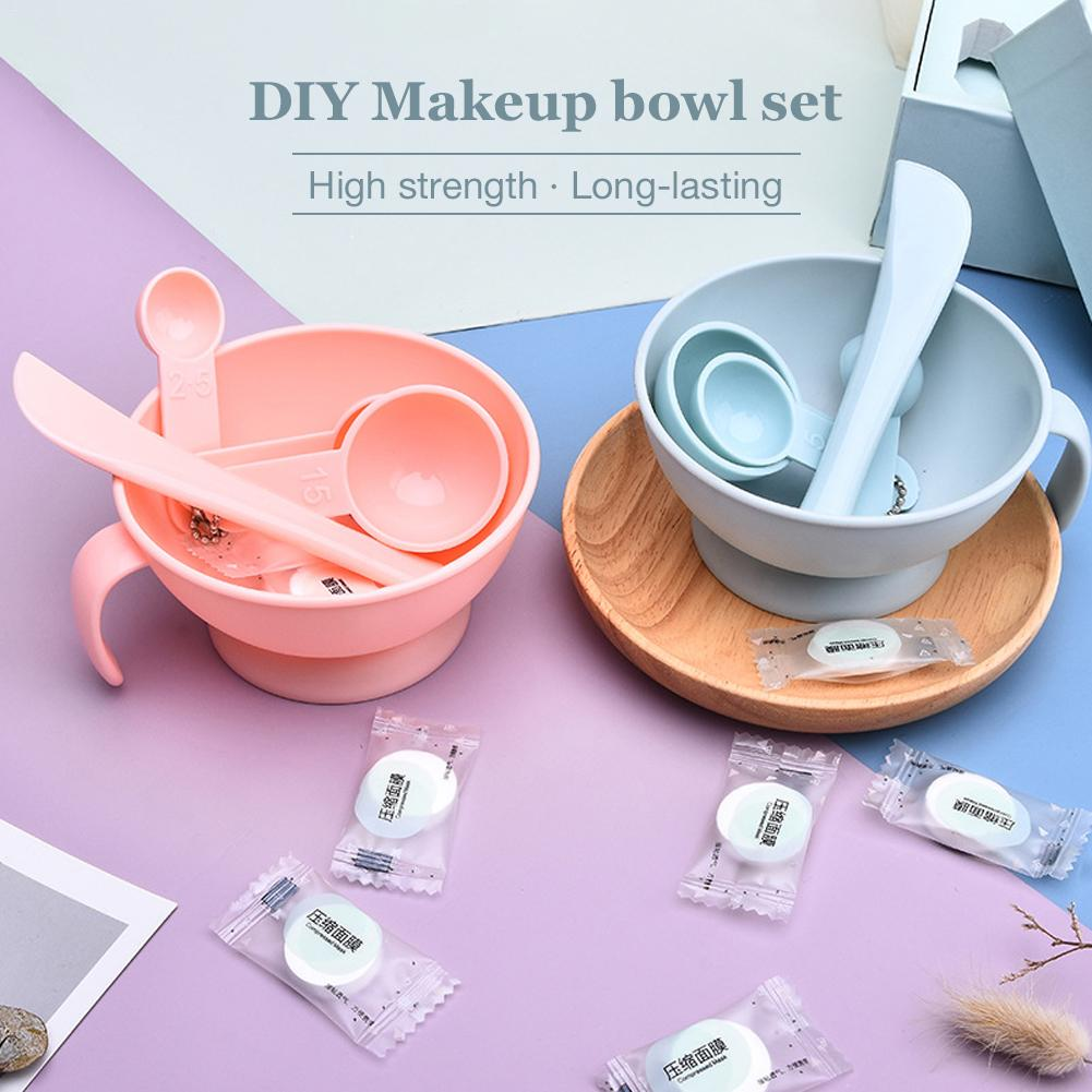 Facemask Mixing Tools Kits Makeup Bowl Set Silicone Bar Rod Spoon Gauge DIY Mask Granule Combination Set