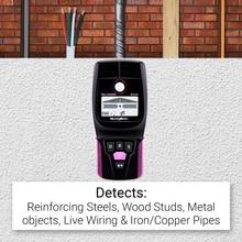 NicetyMeter WS120 רב סורק Stud Finder AC עץ כבל חוטים עומק Tracker אינסטלציה Undeground Sturs קיר סורק LCD ביפ