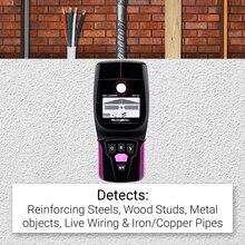 NicetyMeter escáner múltiple WS120 para cables de madera, rastreador de profundidad de cables de CA para fontanería, desmontaje, escáner de pared LCD, bip