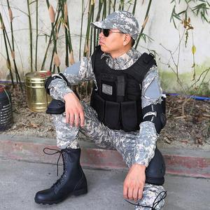 Image 5 - Mgflashforce モールエアガンベストタクティカルベストプレートキャリア swat 釣り狩猟ベスト軍事軍鎧警察のベスト
