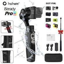 Hohem 3-axis cardan handheld estabilizador de câmera de ação à prova dji água para dji osmo gopro hero/7/6/5/4/rxo sjcam isconstante pro 3
